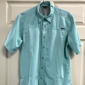 Eddie Bauer Vented Button Down Hiking Shirt Size M